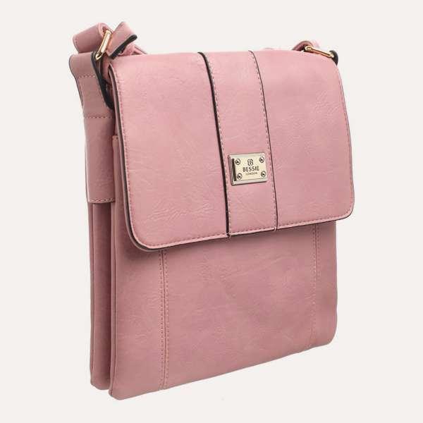 Bessie Two Pocket Cross Body Bag Pink