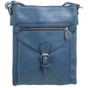 Bessie 3 Pocket Messenger Bag In Blue