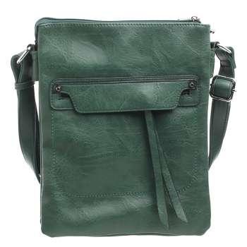 Bessie Classic Zipper Crossbody Bag Green