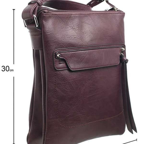 Bessie Classic Zipper Crossbody Bag Purple