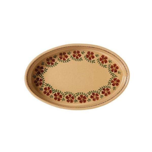 Nicholas Mosse Small Oval Oven Dish Old Rose