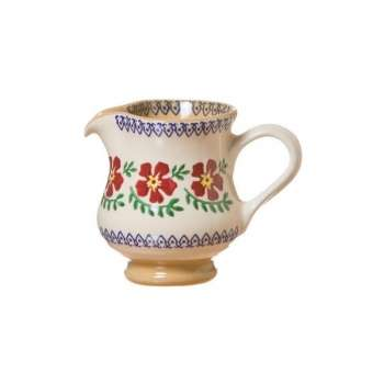 Nicholas Mosse Tiny Jug Old Rose are an adorable accompaniment to any table setting and meal. While they are dainty, their variety of uses continues to amaze!