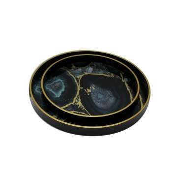 Mindy Brownes Serving Tray Set/2 Midnight Glory