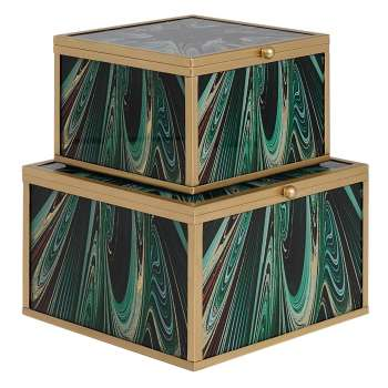 Mindy Brownes Accessory Box Set Of 2 Green Envy