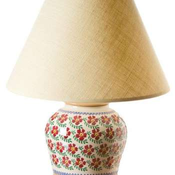 """This Nicholas Mosse 7"""" Lamp Old Rose base is carefully handcrafted by our team of Irish potters."""