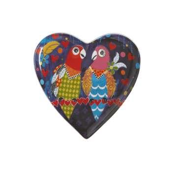 Maxwell & Williams Love Hearts 15.5cm Love Birds Heart Plate