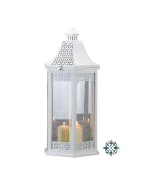 Tara Lane Oxford Lantern Hexagonal White Large