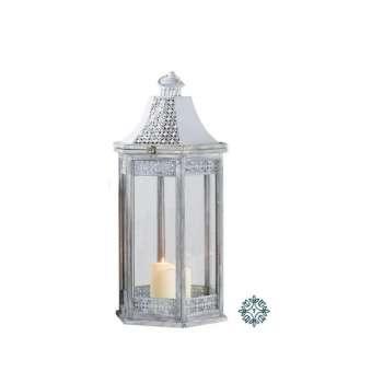 Tara Lane Oxford Lantern Hexagonal Grey Large
