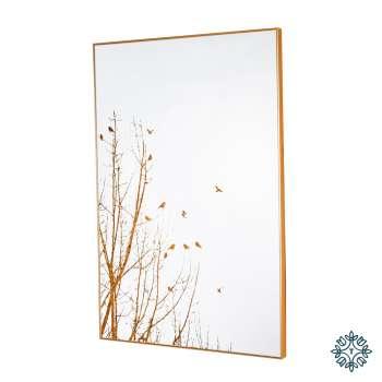 Tara Home Mirror Art Forest Silhouette Gold