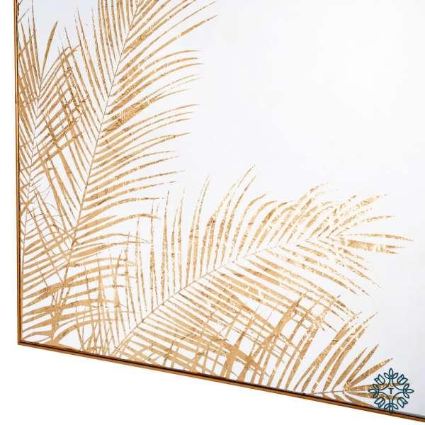 Tara Lane Mirror Art Fern Silhouette Gold