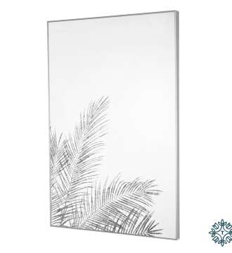 Tara Lane Mirror Art Fern Silhouette Silver