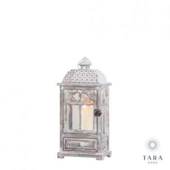 Tara Lane Chester Window Lantern With Drawers Grey Medium