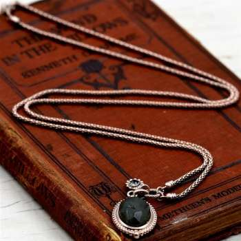 Tempest Vintage Style Oval Stone Long Chain Necklace