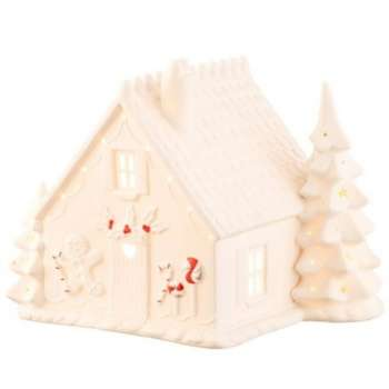 Belleek Living Christmas Gingerbread House Luminaire