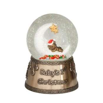 Genesis Moon And Teddy 1st Christmas Globe